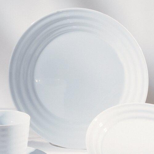 """Ten Strawberry Street Swing White 11"""" Dinner Plate"""