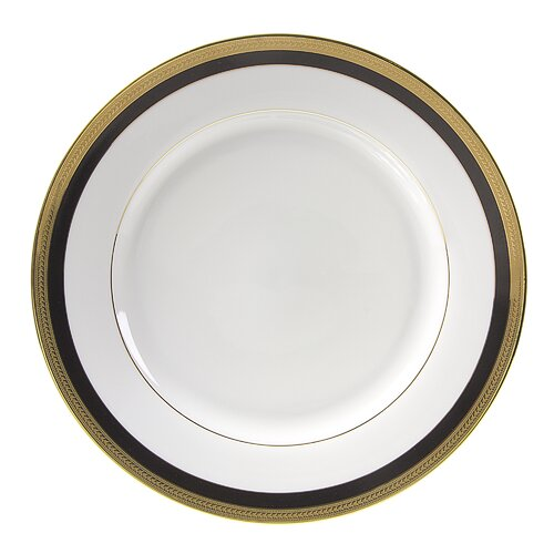 "Ten Strawberry Street Sahara Black 12"" Charger Plate"