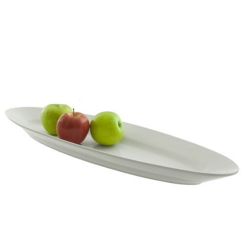 "Ten Strawberry Street Whittier 24"" Oval Fish Platter"