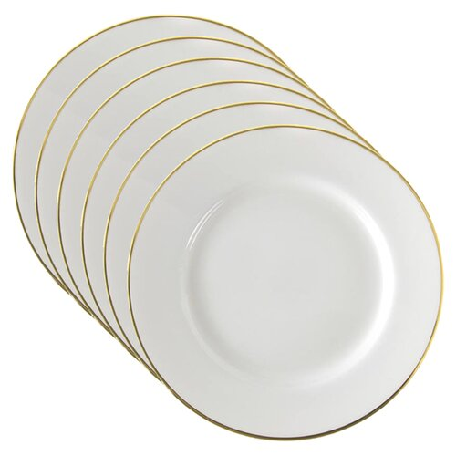 "Ten Strawberry Street Gold Line 9"" Luncheon Plate"