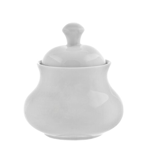 Ten Strawberry Street Royal White 11 oz. Sugar Bowl with Lid