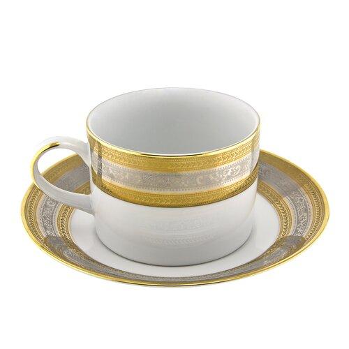 Ten Strawberry Street Elegance 8 oz. Teacup and Saucer