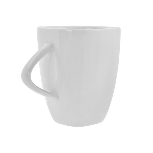 Ten Strawberry Street White Triangle Mug