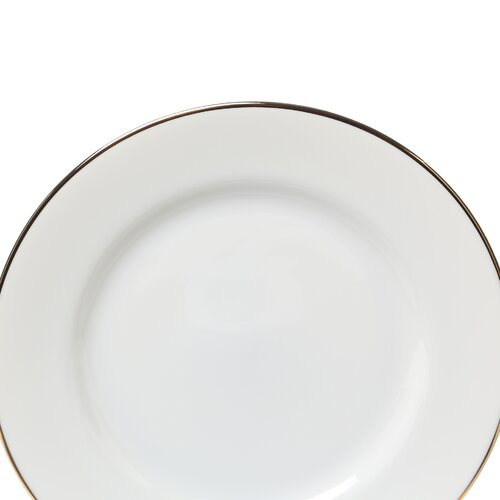 "Ten Strawberry Street Gold Line 7.5"" Salad / Dessert Plate"