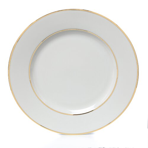 "Ten Strawberry Street Double Gold Line 10.25"" Dinner Plate"