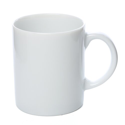 Ten Strawberry Street Classic White 8 oz. C Handle Straight Sided Mug