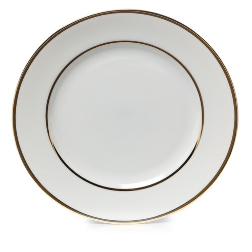 "Ten Strawberry Street Double Gold Line 7.5"" Salad / Dessert Plate"