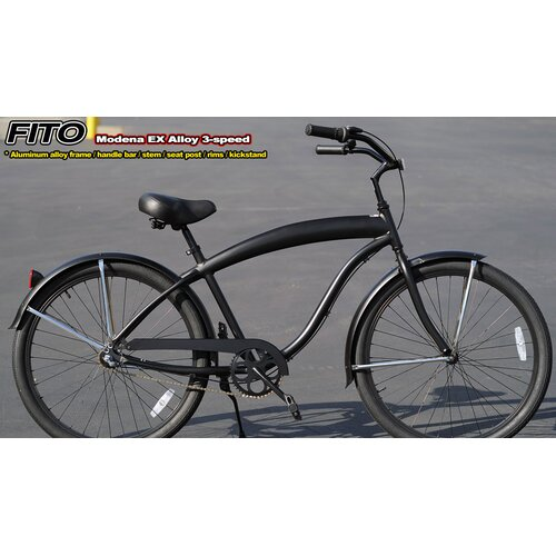 Men's Modena EX Alloy Shimano Nexus 3-Speed Beach Cruiser Bike