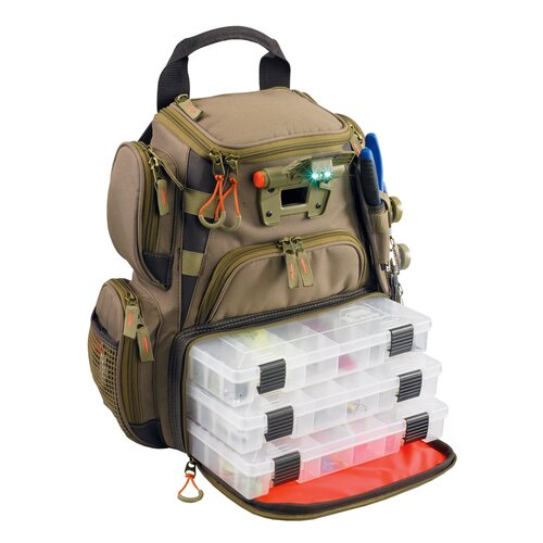 Recon Lighted Compact Tackle Backpack with Tray