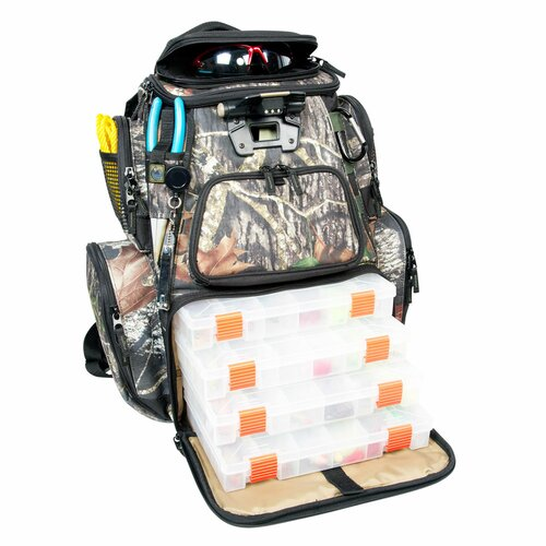 Nomad Mossy Oak Tackle Tek Lighted Backpack with Tray