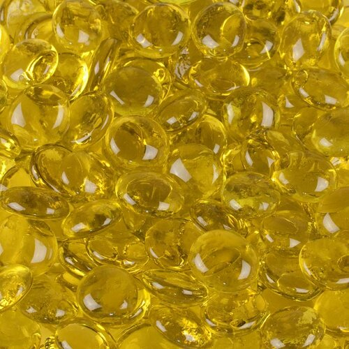 Wholesalers USA 5 lbs of  Glass Gems in Canary Yellow