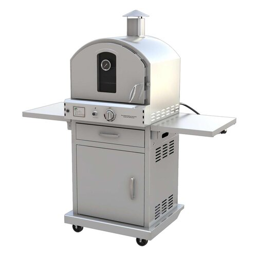"Pacific Living 19.88"" Outdoor Pizza Oven Gas Grill with Cart"