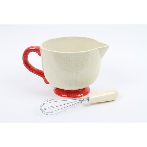 Farm to Table 2 Piece Ceramic Batter Bowl and Whisk