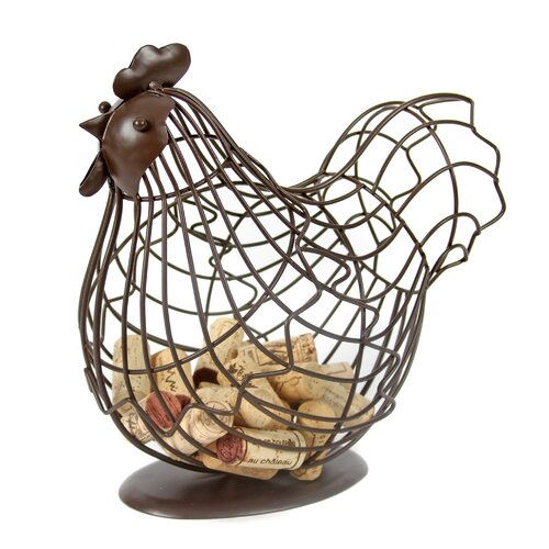 DEI Farm to Table Handcrafted Wire Rooster Memory Keeper