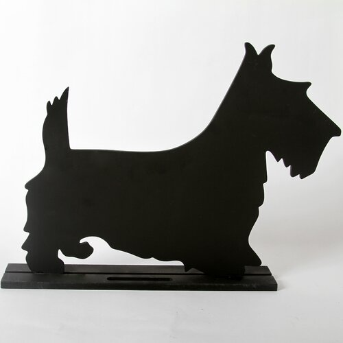 "DEI Unleashed ""Terrier"" Dog Silhouette Table 11.75"" x 1' 3"" Chalkboard"