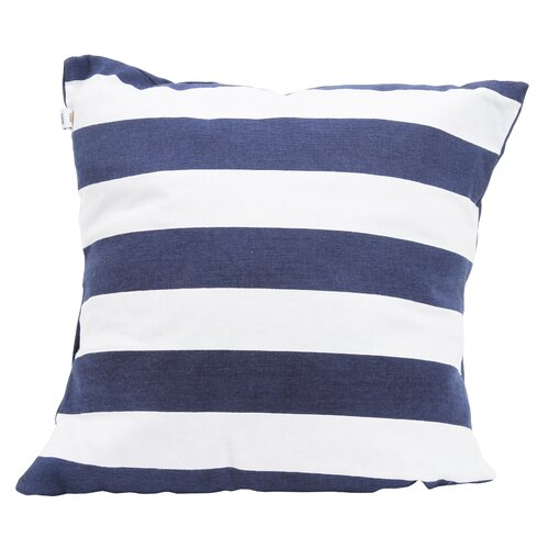Latitude 38 Nautical Stripe Cotton Throw Pillow