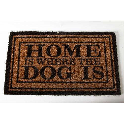 "Sale alerts for DEI  Lucky Dog ""Welcome to the Dog House"" Expressions Coir Rug  - Covvet"