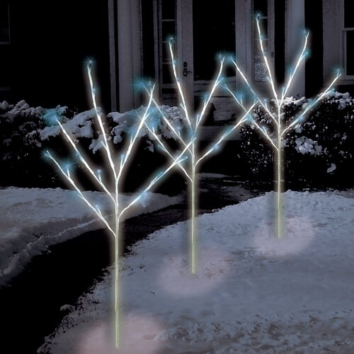 Brite Star 60 Light Led Twig Tree Pathmarkers Christmas