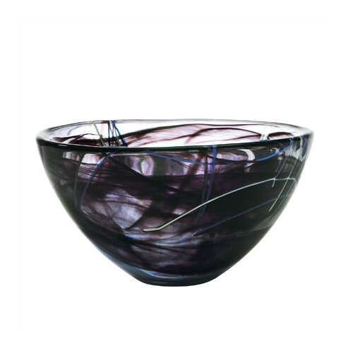 Kosta Boda Contrast Large Black Bowl