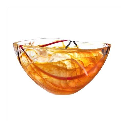 Kosta Boda Contrast Medium Orange Bowl