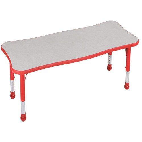 "Brite Kids Brite 48"" x 30"" Rectangular Classroom Table"