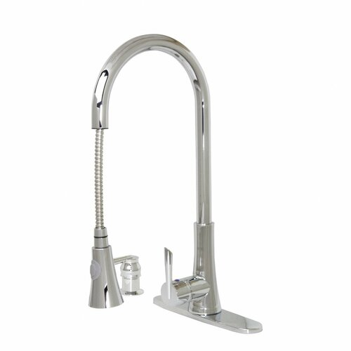 Modern Kitchen / Bathroom Pull-Out Faucet With Soap Dispenser