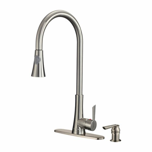 Celtic Single Handle Pull-Out Kitchen Faucet with Soap Dispenser