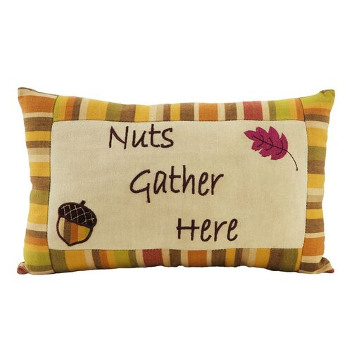 IHF Home Decor Tuscan Nuts Gather Accessory Pillow