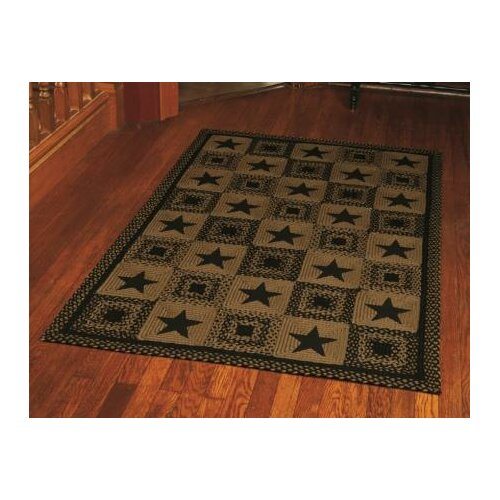 IHF Home Decor Country Star Black Rug & Reviews