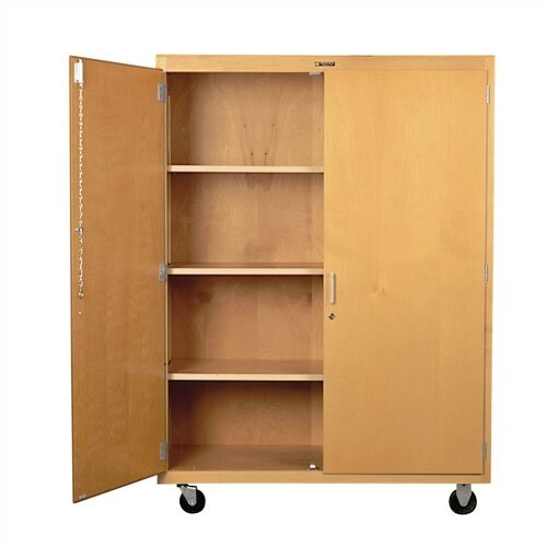 Shain Mobile Shelf Storage Cabinet