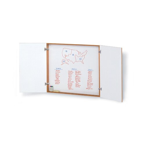"""ABCO Conference Cabinet 4' x 4' 1"""" Whiteboard"""