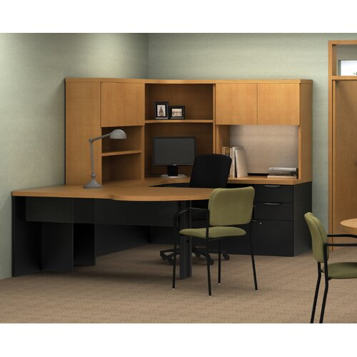 "ABCO Unity Executive Series 29"" H x 72"" W Freestanding ""P"" Peninsula"