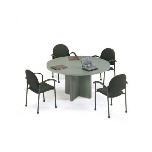"ABCO 48"" Diameter Self Edge Round Top Gathering Table"