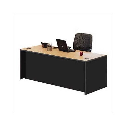 ABCO Unity Double Full Pedestal Desk Shell with 2 Right and 2 Left Drawers