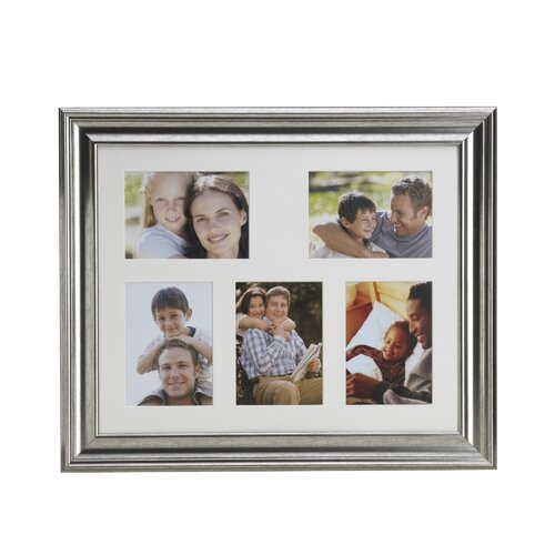 5 Opening Matted Plastic Collage Picture Frame
