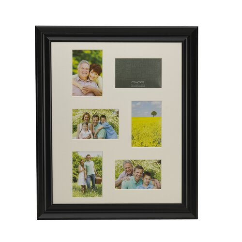 6 Opening Matted Plastic Collage Picture Frame