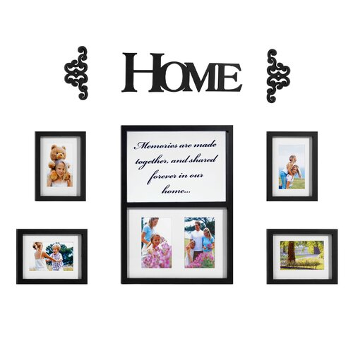 Melannco 8 Piece Home Decorator Picture Frame Set