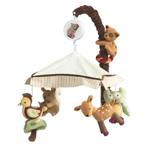 Lambs ivy enchanted forest musical mobile reviews for Woodland animals nursery mobile