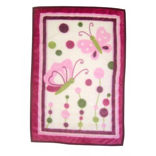Lambs & Ivy Raspberry Swirl 4 Pack Flannel Blanket