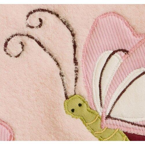 Lambs & Ivy Raspberry Swirl Plush Blanket with Applique
