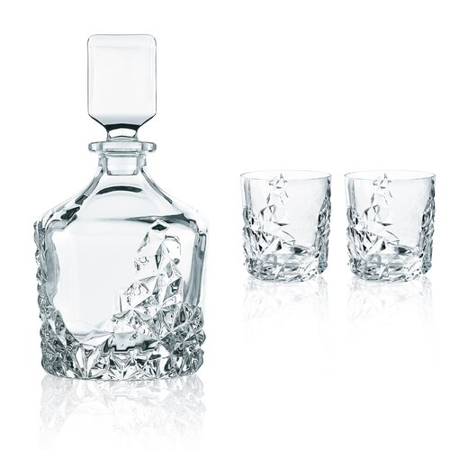 Nachtmann Sculpture 3 Piece Decanter Gift Set