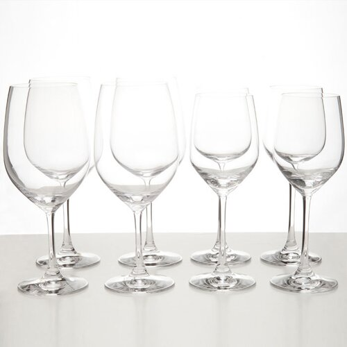 Vino Vino 8 Piece Red and White Wine Glass Set (Set of 8)