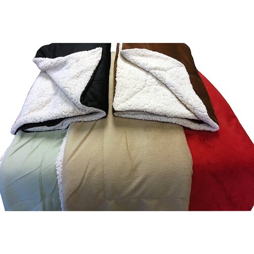 Micromink / Sherpa Polyester Throw