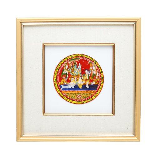 Matsya Framed Ganjifa Card Memorabilia