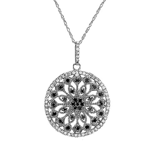 10K White Gold Fancy Diamond Pendant