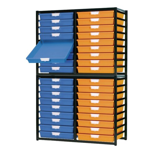 36 Tray Extra Wide Stationary Metal Rack
