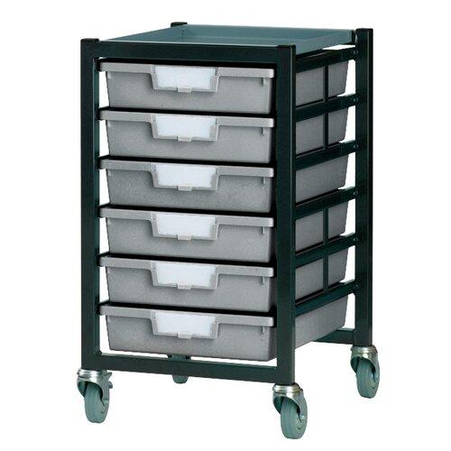 6 Tray Standard Width Mobile Metal Rack