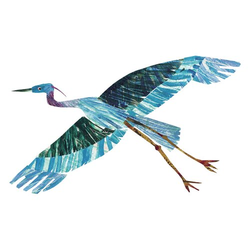Baby Bear Character Blue Heron By Eric Carle Painting