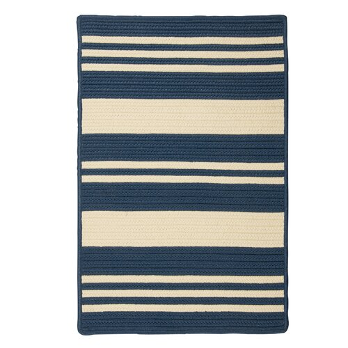 Long Point Blue Jasmine Striped Indoor/Outdoor Rug