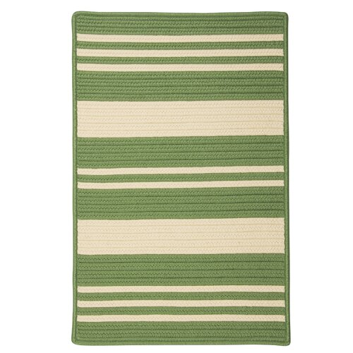 Long Point Moss Green Striped Indoor/Outdoor Rug